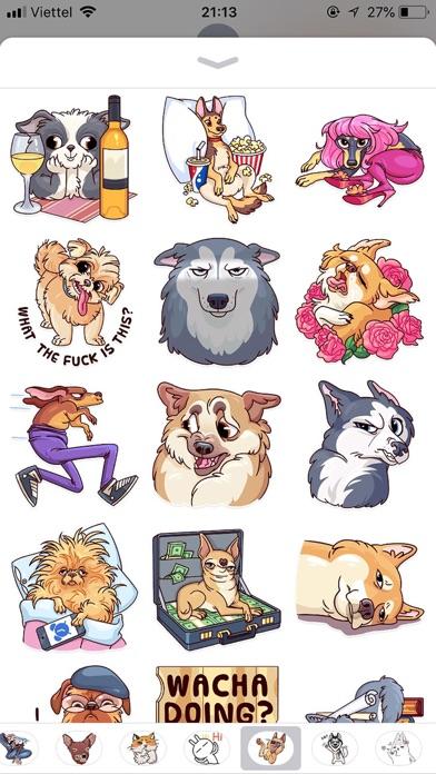 Dog Cute Pun Funny Stickers screenshot 3