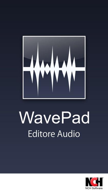 WavePad Editor- Musica e Audio