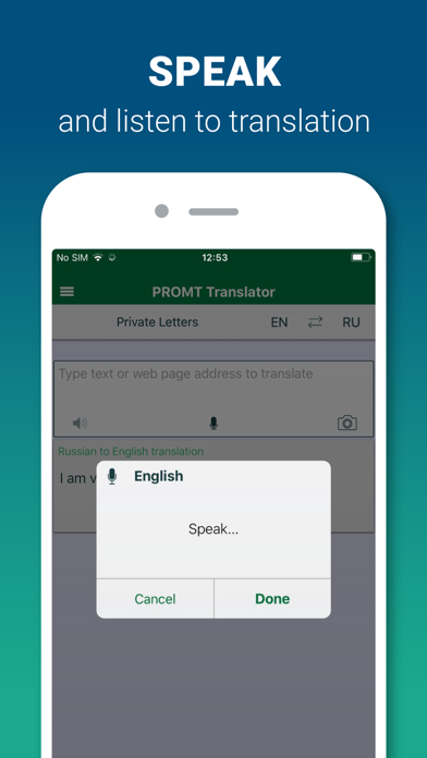 Screenshot for PROMT Translator Offline in Egypt App Store