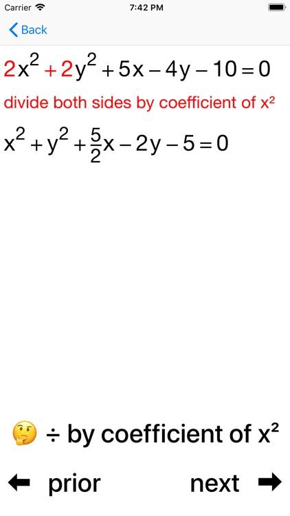 Circles and Equations screenshot-7