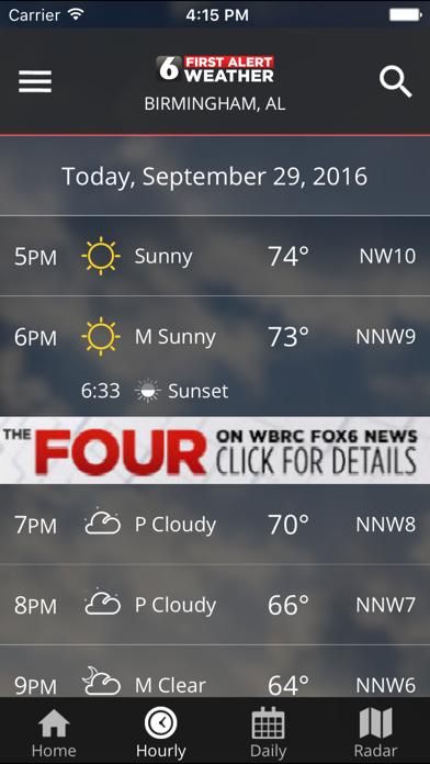 Wbrc First Alert Weather review screenshots