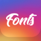 App Icon for Fonts for Instagram Keyboard App in United States IOS App Store