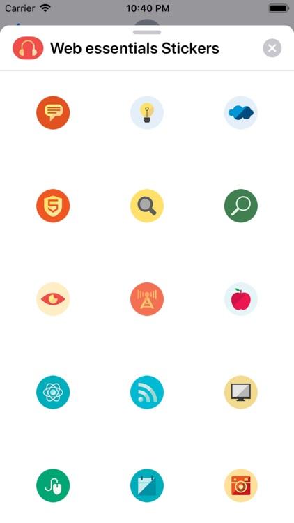 Web essentials Stickers