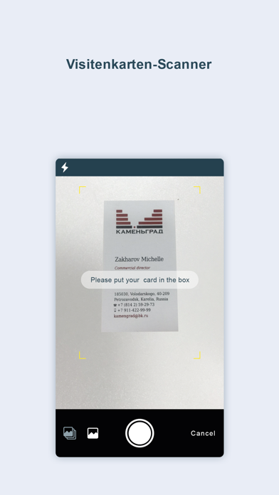 Visitenkarten Scanner-OCR CardScreenshot von 1