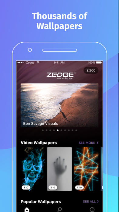 Zedge Wallpapers By Zedge Ios United States Searchman App Data Information