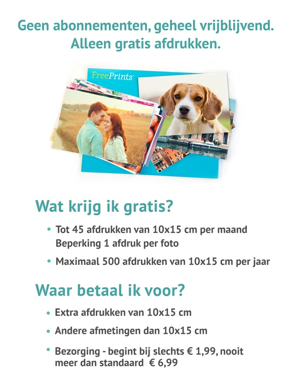Ongekend FreePrints - Foto's bezorgd - App voor iPhone, iPad en iPod touch DT-32