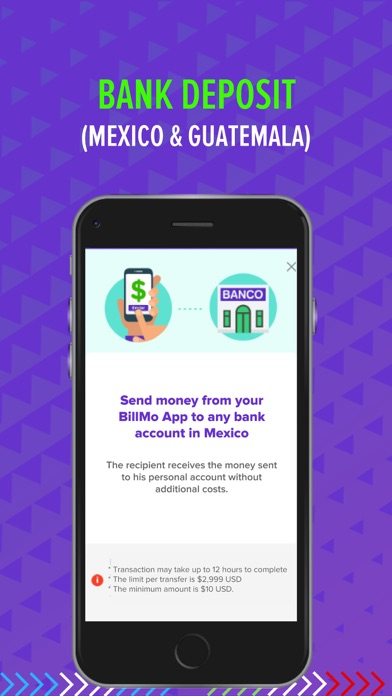 Billmo Money Transfer Wallet Screenshot