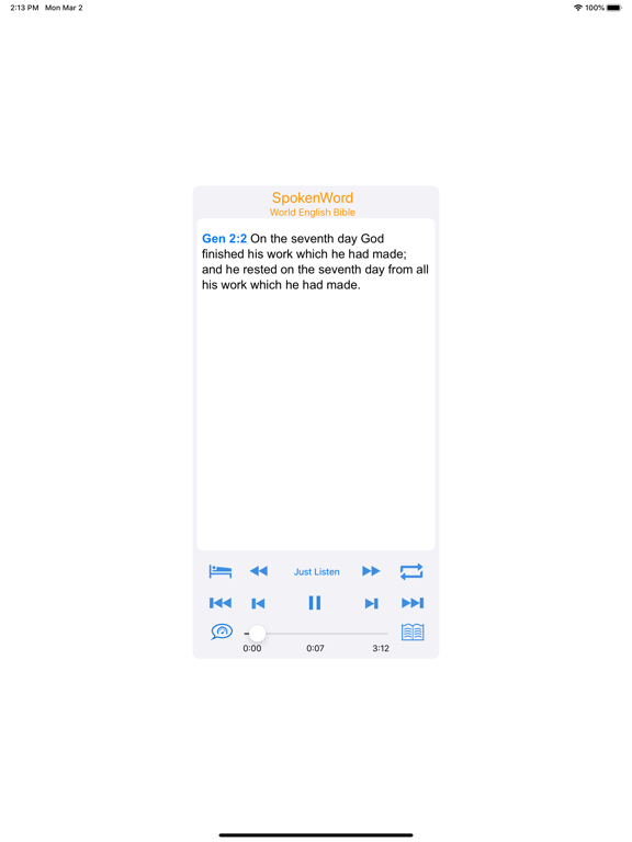 SpokenWord Audio Bible - New Testament screenshot