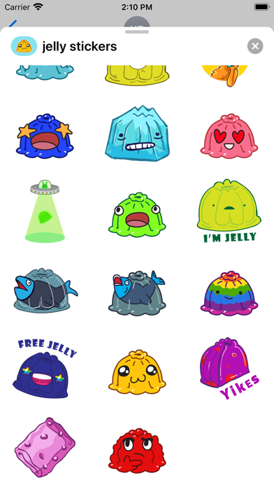 Jelly - Stickers for imessage screenshot 2