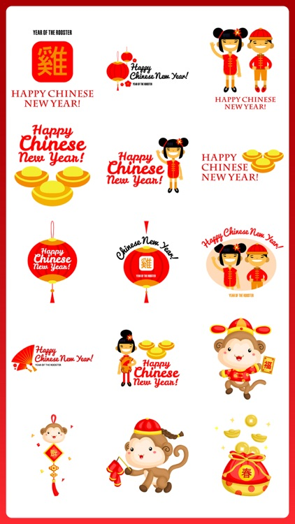 Chinese New Year Stickers Pack