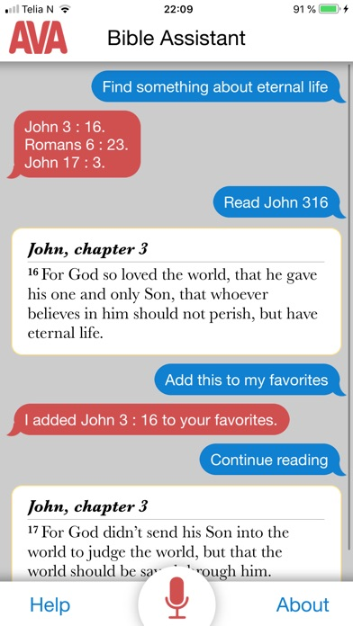 Screenshot for AVA Bible Assistant in United States App Store