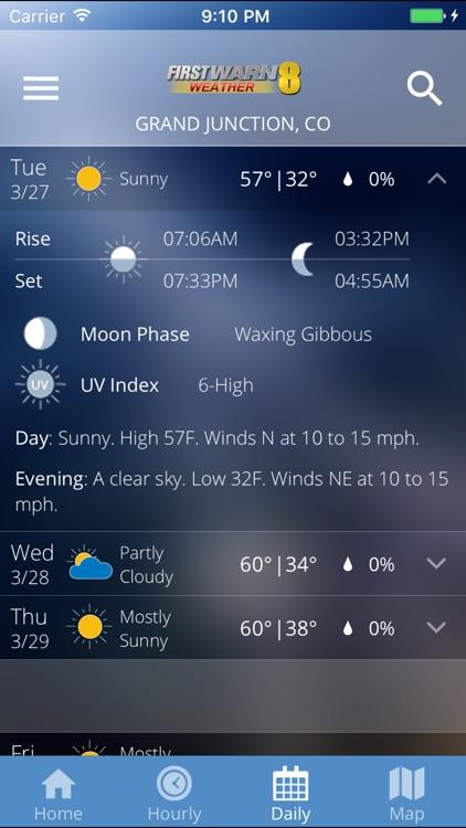 KJCT 8 First Warn Weather screenshot-3