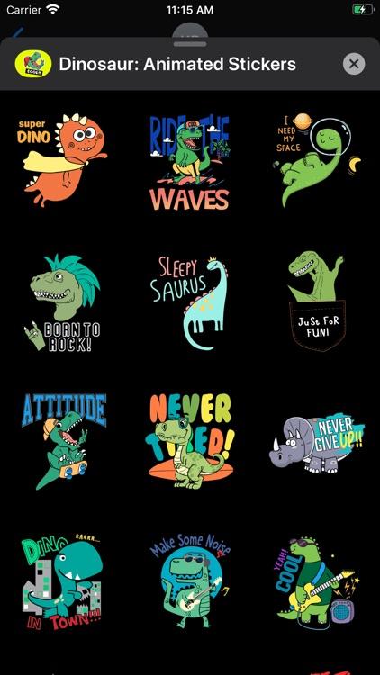 Dinosaur: Animated Stickers screenshot-3