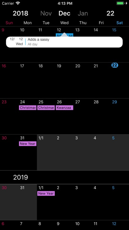 DoDay ∞ scroll Calender screenshot-4