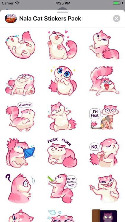 Nala Cat Stickers Pack