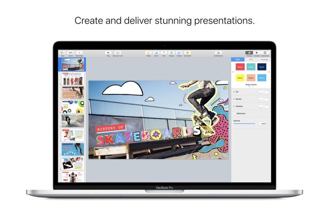 Keynote on the Mac App Store