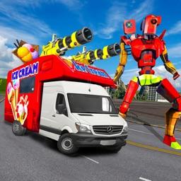 Ice Cream Robot Van Transform