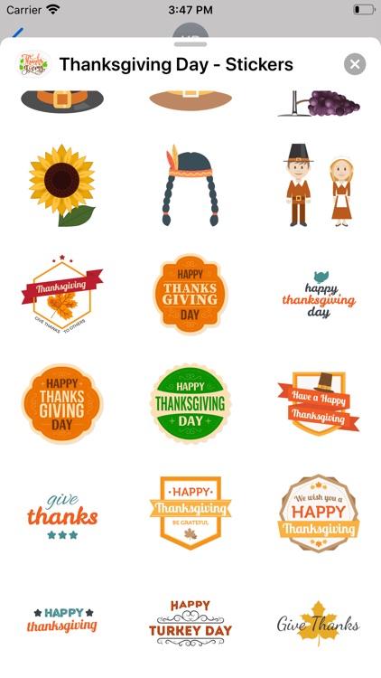 Thanksgiving Day - Stickers screenshot-4