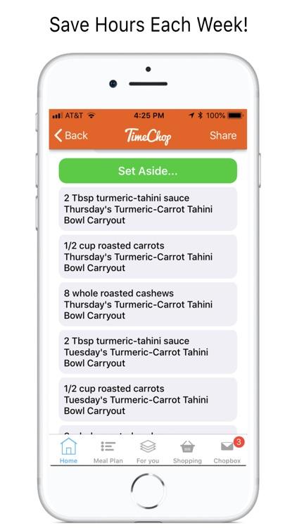 TimeChop Meal Plans & Recipes screenshot-5