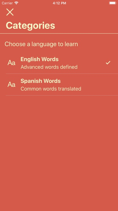 Screenshot for Vocabulary - Learn New Words in United States App Store