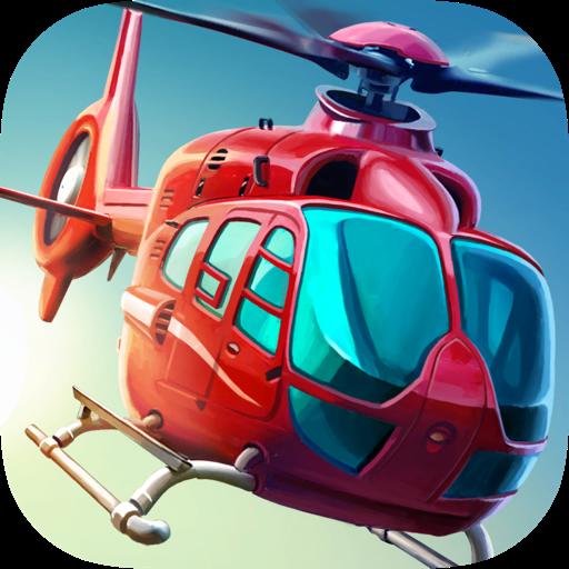 Вертолет 3D - Спасатели