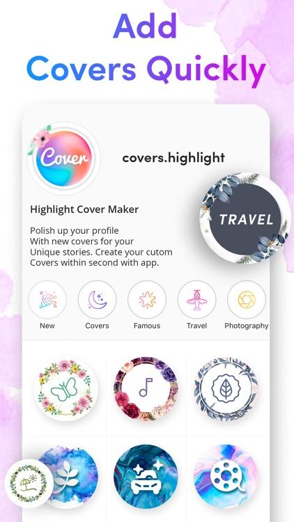 Cover Highlights + logo maker screenshot-3