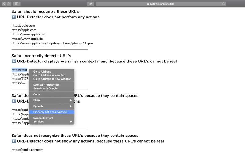 URL-Detector for Safari скриншот программы 6