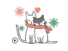 Animated Lovely Girl And Cat