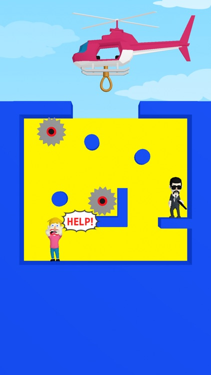 Help copter - rescue puzzle