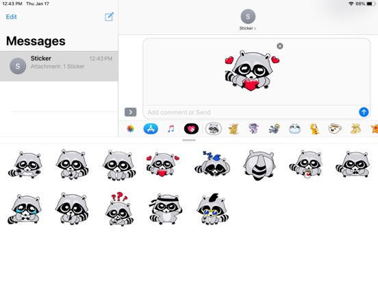 Raccoon Cute Funny Stickers screenshot 4