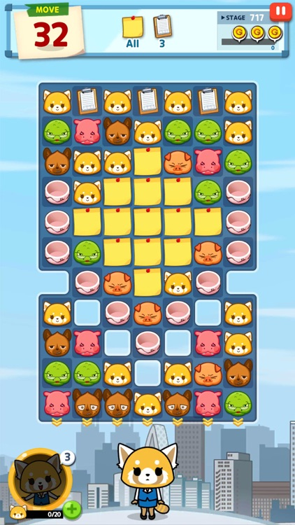 Aggretsuko :Sanrio Puzzle Game screenshot-5