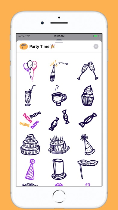 Screenshot for Party Time Stickers in Ecuador App Store