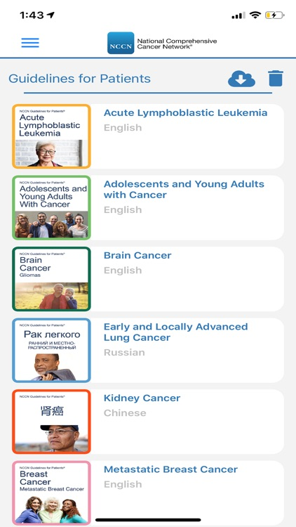 NCCN Patient Guides for Cancer