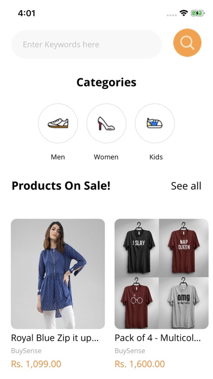Buysense Fashion Shopping App
