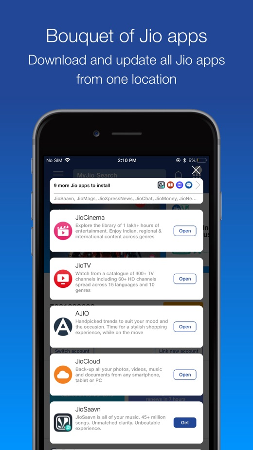 Jio Chat Apps Downloading