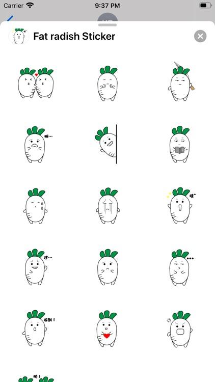 Fat radish Sticker