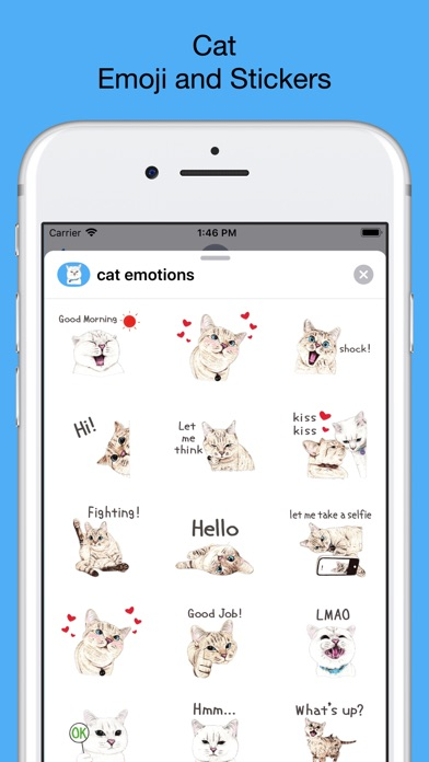 Cat - Emoji and Stickers screenshot 1