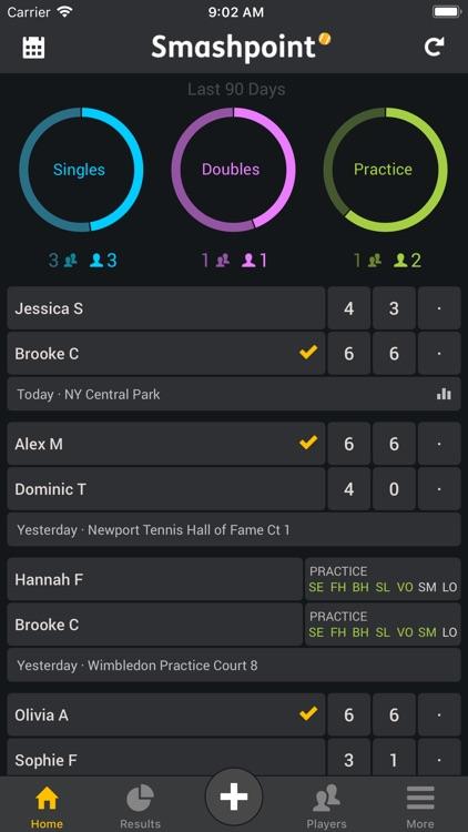 Smashpoint Tennis Tracker screenshot-0