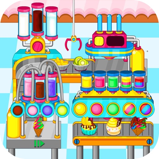 Cooking colorful ice cream