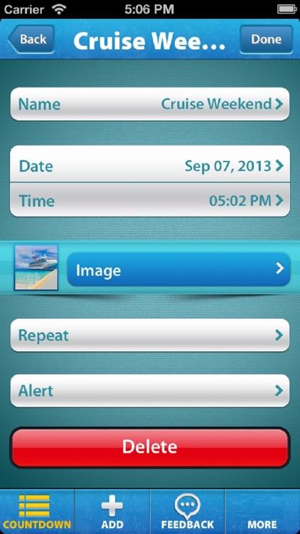 Holiday & Vacation Countdown screenshot-3