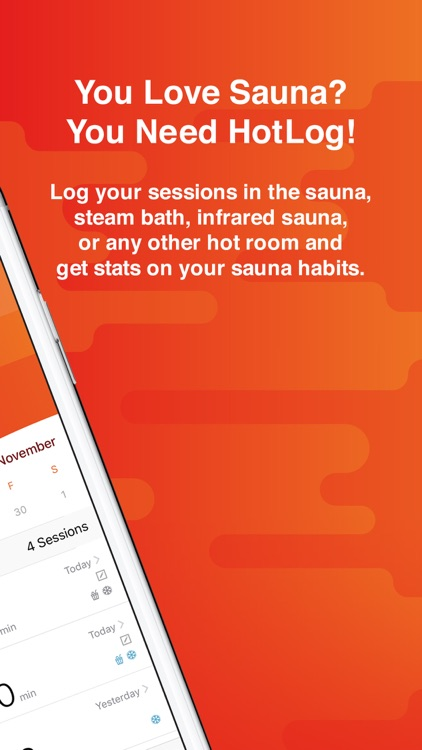 HotLog - Sauna Session Tracker