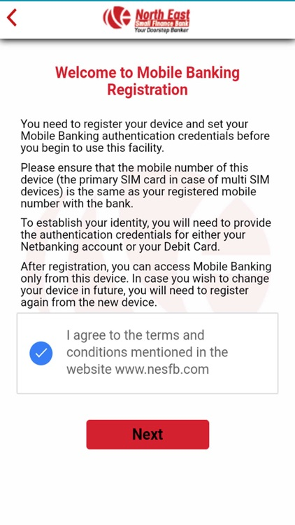 NESFB Mobile Banking