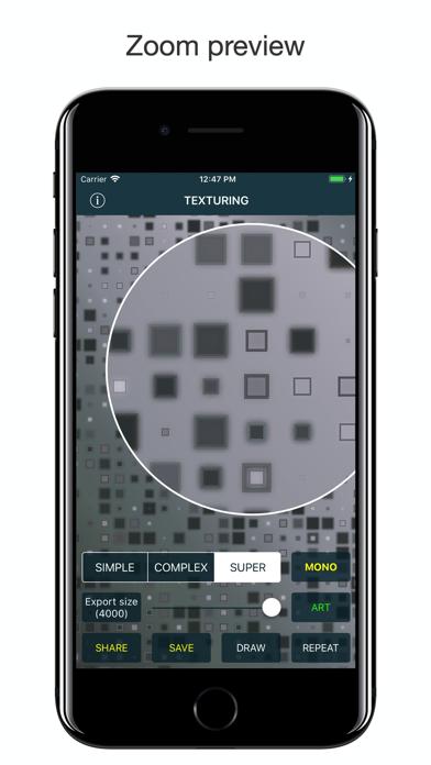 Texturing app image