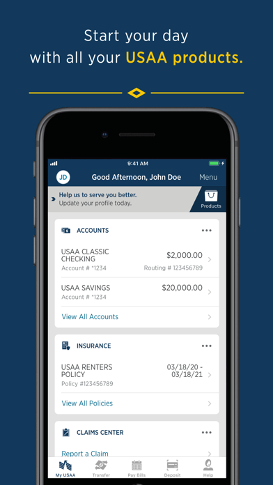 Usaa Mobile review screenshots