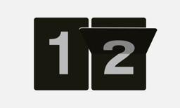 Zen Flip Clock for TV