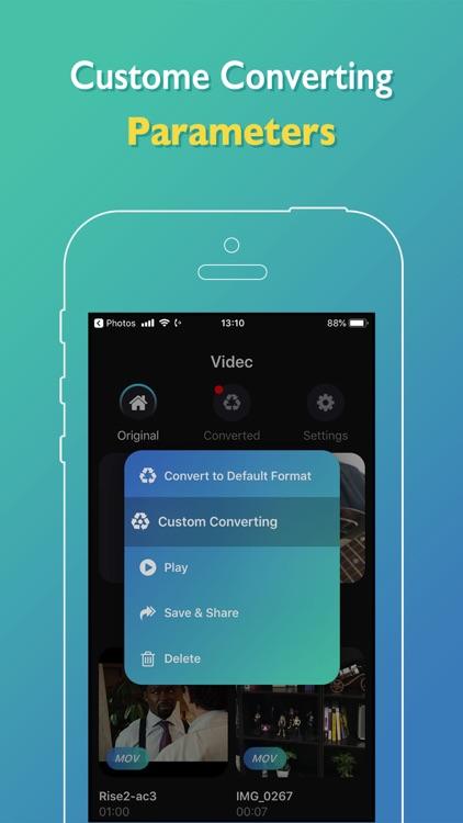 Videc - Any Video Converter screenshot-3