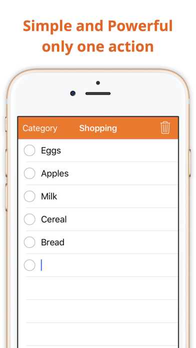 Incart: Simple grocery list