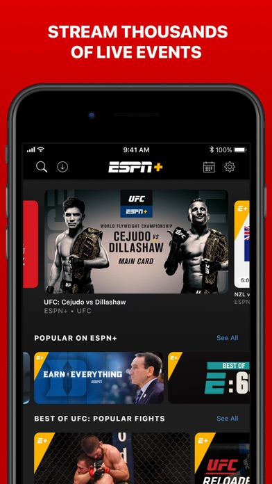 Screenshot for ESPN: Live Sports & Scores in United States App Store