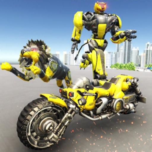 Lion Robot Superhero Battle