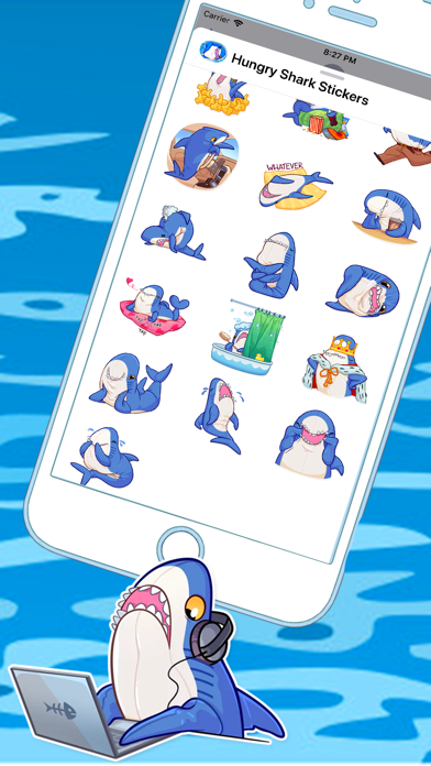 Hungry Shark Stickers app image